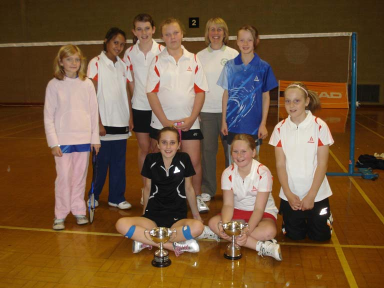 Herts U12 team for Leicester Doubles Invitation October 2008