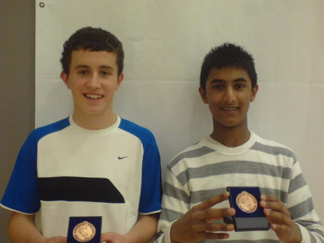 Scott Williams & Andrei Donko at the Brunel U17 Silver Tournament 2008